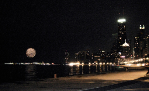 fireworks & skyline